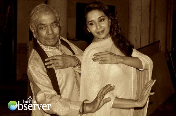 Madhuri Dixit with Maharaj Ji